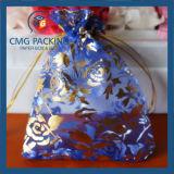 中心の印刷のドローストリング袋の宝石類のオーガンザ袋