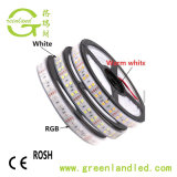 Marcação RoHS 28,8 W 12V/24V 120 LEDs 5050 fileira dupla luz Fita LED de exterior