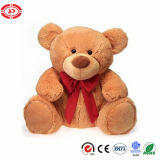 Teddy Bear com Holiday Bow Fluffy Plush Quality Soft Toy