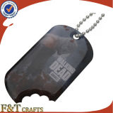 卸し売り装飾的なアルミニウムカスタムロゴの人間のドッグタッグ(FTDT2029A)