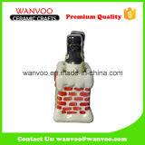 Keramisches Schneemann-Salz und Pfeffer-Flasche für Küchenbedarf-Soße-Flasche