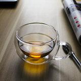 De dubbele Kop van het Glas van de Espresso van de Muur past de Kop van de Koffie van de Cappuccino's van de Kop van het Glas van Cappuccino's aan