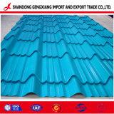Feuille de carton ondulé en acier galvanisé de couleur à partir d'Huaye avec un bon prix