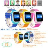Le GPS tracker regarder pour les enfants avec le GPS+lbs à double position (Y5)