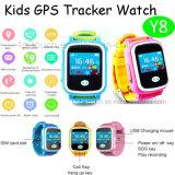 GPRS 실시간 위치 (Y8)를 가진을%s 가진 아이 GPS 추적자 시계