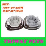 Flanela de conforto&tecido impresso aconchegue-cama Pet (WY161016A/B)