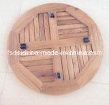 Table d'appoint en teck en acier inoxydable