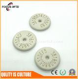 Étiquette de blanchisserie d'IDENTIFICATION RF de bouton de PPS pour l'hôtel
