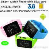 Montre intelligente de Bluetooth avec la fente de carte SIM (G11)