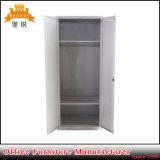 Garde-robe en acier de casier de cabinet de porte des meubles 2 de chambre à coucher en métal