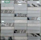 Neuer Entwurfs-weißes und schwarzes Marmorglasmosaik