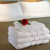 100%年の綿の白い標準ホテルタオルセット