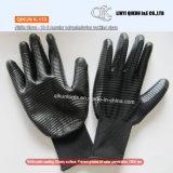 Полиэфир датчиков K-112 13 угловой/перчатка безопасности Nylon покрытия ладони нитрила работая
