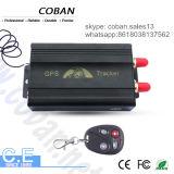 Sistema de alarme Coban do carro do perseguidor da G/M GPS 103b com alarme de porta da velocidade & batente do motor remotamente