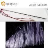 Indicatore luminoso RGB DMX512 del tubo di Spi LED 3D indicatore luminoso del tubo di evento della barra di notte di 360 gradi