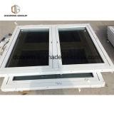Janela de dobradiças de vidro duplo de alumínio