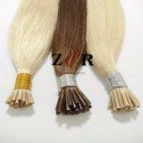 Estensione brasiliana dissipata naturale dei capelli umani di punta del bastone dei capelli di colore scuro