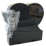 Monumento/Headstone/pietra tombale trasversali di scultura personalizzati europei del granito