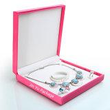 كبيرة مربّعة عادة أنيق عقد مجوهرات هبة يعبّئ صندوق