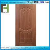 Sapele réel naturel porte en bois de placage de la peau en surface