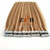 Piano Natural Color de pelo indio llamado cinta en la extensión de cabello humano.