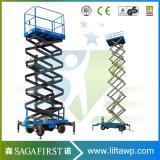 platform van de Lift van de Mens van de Schaar Driveable van 10m het Zelf Gedreven