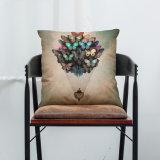 気球プリントリネン枕車のソファーのクッションカバーオフィスの仮眠の枕