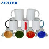 Colore bianco rivestito di ceramica della tazza che cambia la tazza magica di sublimazione