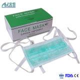 Três camadas Tie-on cirúrgicas clássicas de máscara protetora descartável não tecida