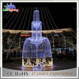 Светодиодный индикатор фонтан на открытом воздухе Рождество светодиодные индикаторы