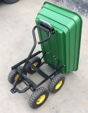Green Garden carrinho de reboque do vagão de descarga