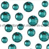 Rhinestone Strass Bling плоского дна кристаллический для конструкции искусствоа ногтя ((голубой zircon FB-ss20)