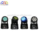 Miniwäsche-bewegliches Hauptlicht der Stadiums-Beleuchtung-DMX 7PCS 10W LED