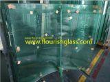 正面のクラッディングによって強くされるガラス