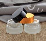 Botella de cristal con el casquillo para la crema (NBG19)