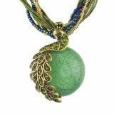 Raupe-Steinpfau-hängende Halskette mit mehrschichtigen türkischen Kettenschmucksachen