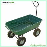 4つの車輪のプラスチック庭手のカートのヤードワゴン