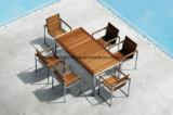 ステンレス鋼フレームが付いているチークの家具のガーデン・チェア