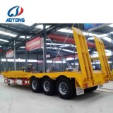 Aotong marque Lowbed charge lourde 60 tonnes de remorques (échelles arrière en option)