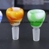 Tazón de fuente de cristal vendedor caliente para los accesorios comunes femeninos para el tubo de cristal que fuma