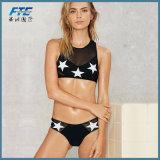 Bikini sexy eccellente delle donne dello Swimwear con merletto nero