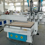 Macchina di scultura di legno di CNC asse di rotazione pneumatico di Sysem del multi, legno della macchina del router, router di CNC delle due teste con rotativo per falegnameria
