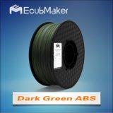 3D 인쇄 기계 Drak 녹색을%s 1.75mm 아BS 필라멘트