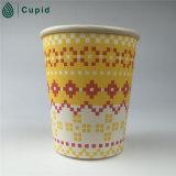 Tasse de papier du café 9oz à mur unique bon marché de fournisseur de la Chine avec le logo fait sur commande