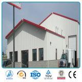 Edificio ligero comercial e industrial de la fábrica del marco de acero del calibrador