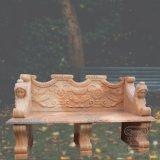 日没の赤い大理石T-3826の手によって切り分けられるベンチ