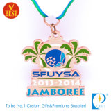De aangepaste Zilveren medaille van het Voetbal/van de Voetbal voor Jamboree