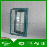 Abrir o vidro duplo fora da janela de alumínio Design de Janela de Metal