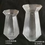 Cadeau promotionnel motif hachuré bouteille en verre Vase de décoration