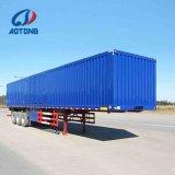 Marca Aotong 40FT casa semi reboque / Van de carga do reboque do veículo
